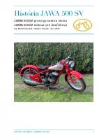 História Jawa 500 SV